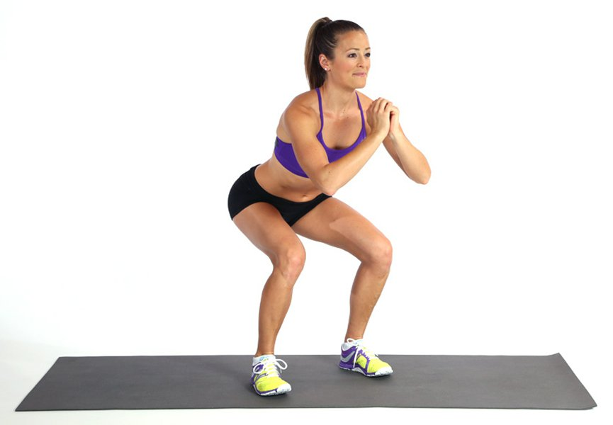 3 exercise 20 minute workout squats